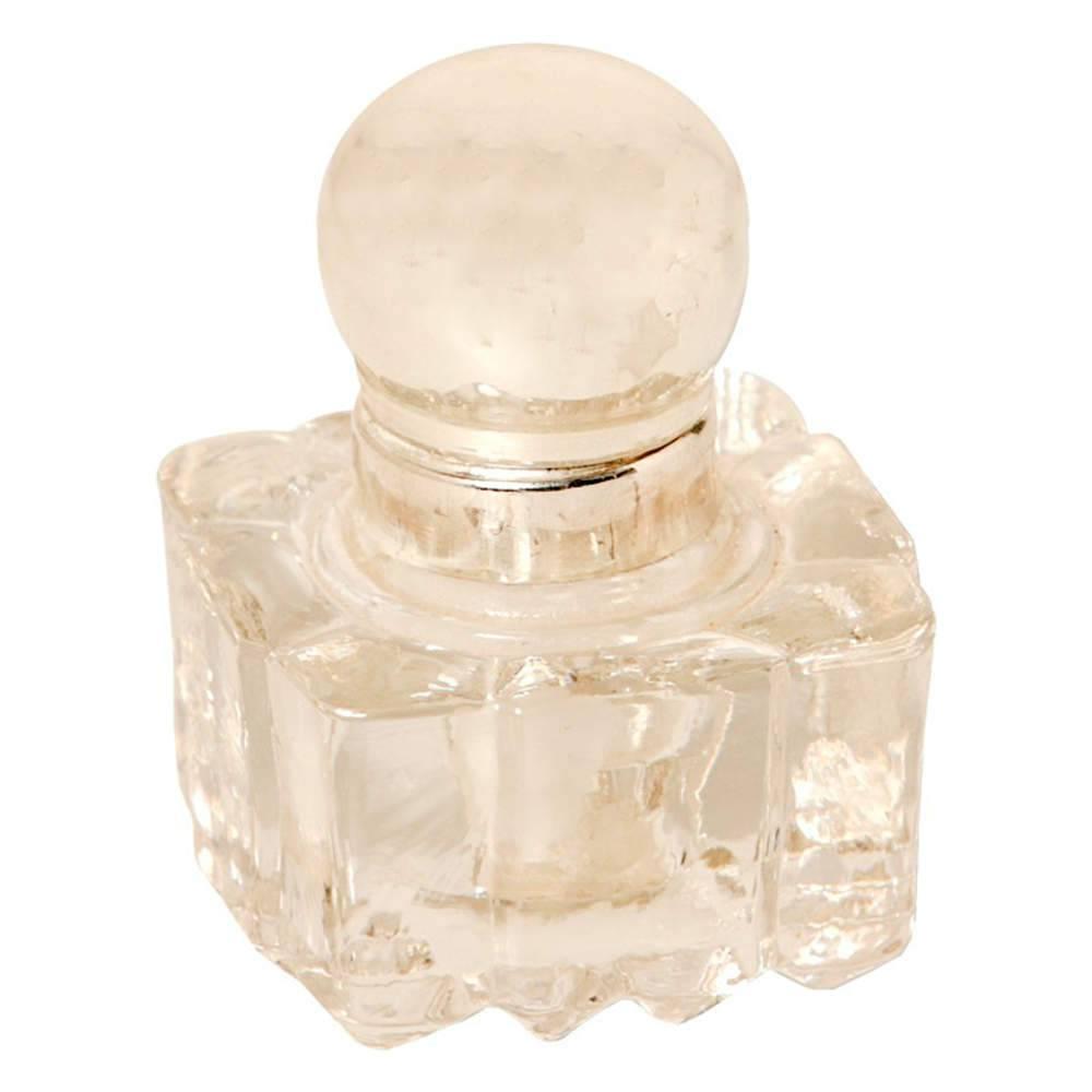 Perfumeiro Precieux em Vidro Transparente com Tampa em Metal - 9x7 cm