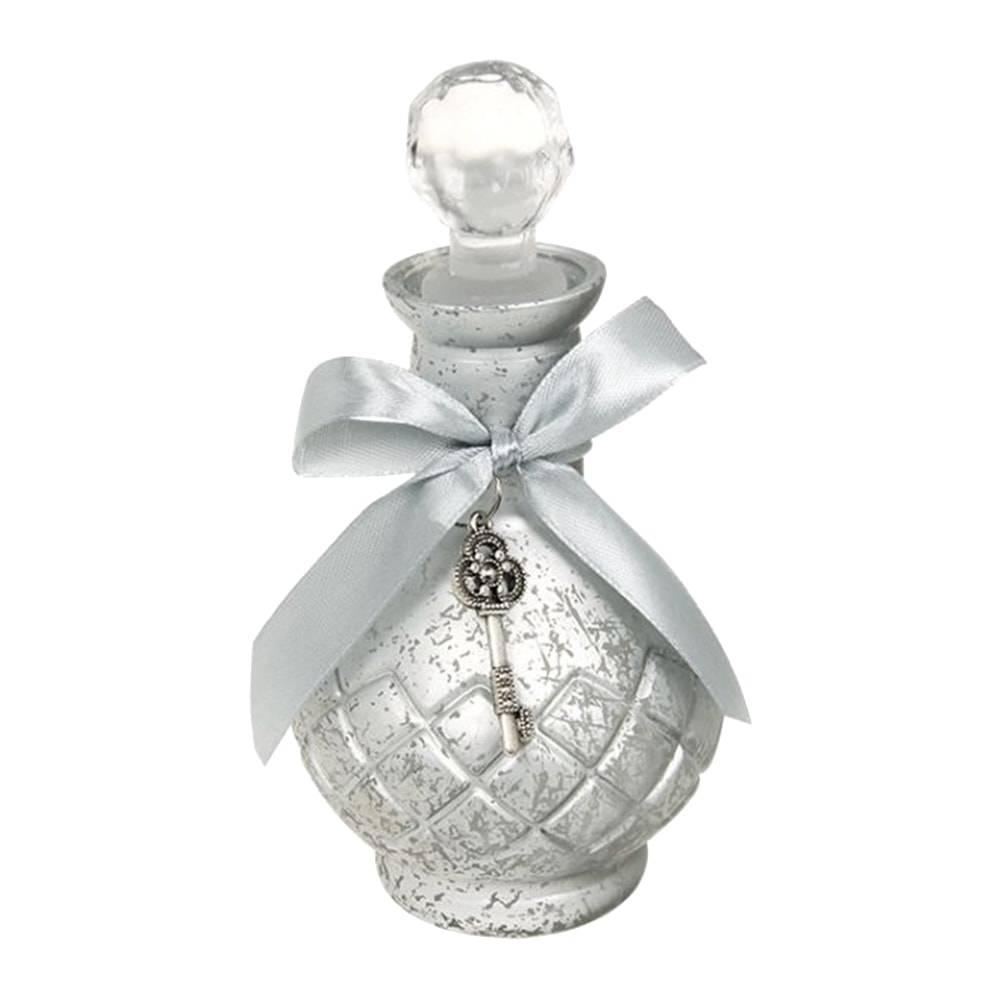 Perfumeiro Toshima Silver Prateado em Vidro - 20x10 cm