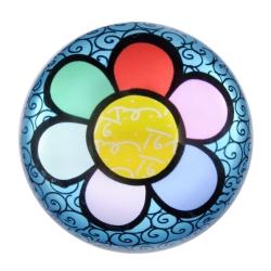 Peso de Pape Flower - Romero Britto - em Vidro - 8x4 cm