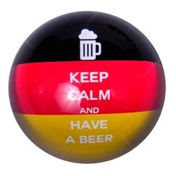 Peso de Papel Alemanha Keep Calm and Have a Beer em Vidro