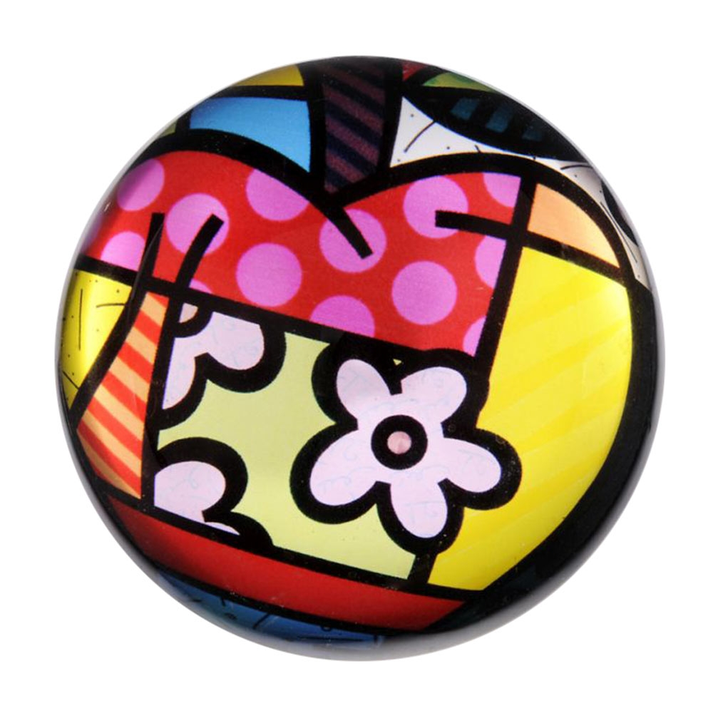 Peso de Papel Apple - Romero Britto - em Vidro - 8x4 cm