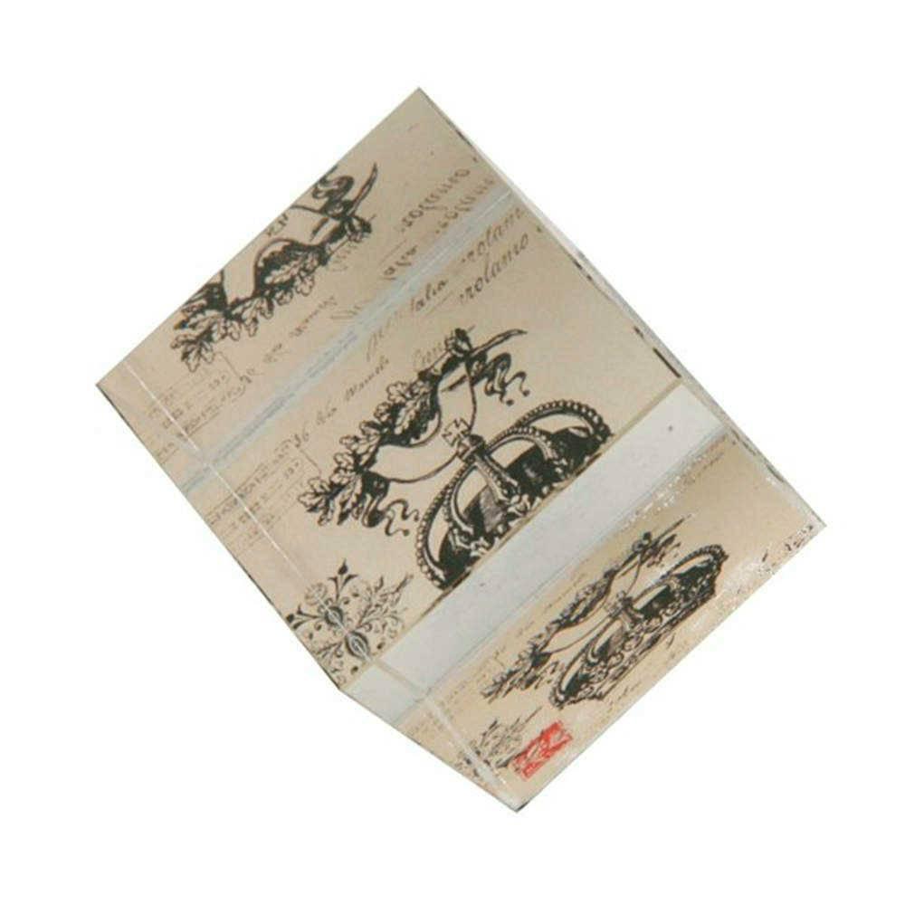 Peso para Papel Coroa Preto e Branco em Vidro - 6x5 cm