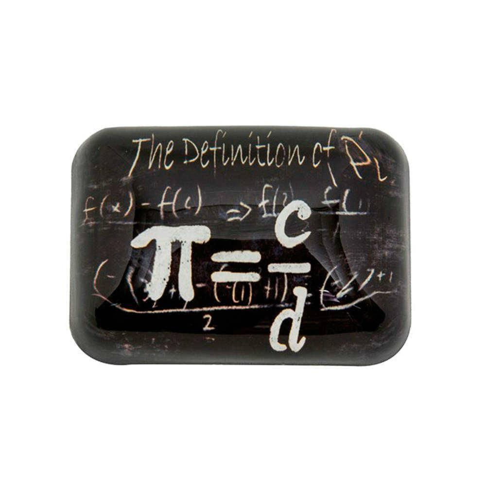 Peso para Papel Fórmula Matemática Número PI Preto e Branco em Vidro - 9x7 cm