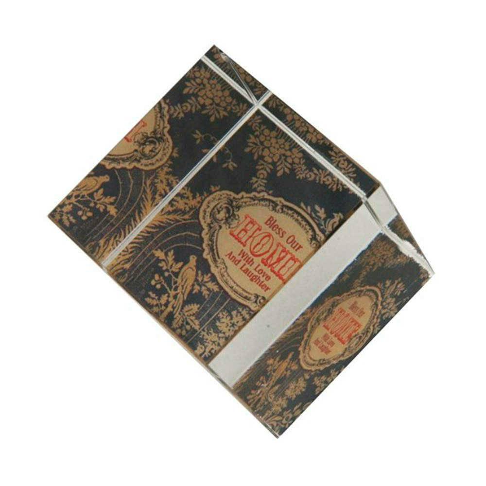 Peso para Papel Home Preto e Marrom em Acrílico - 31x16 cm