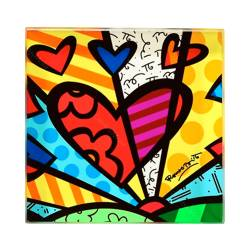 Peso de Papel A New Day - Romero Britto - em Vidro - 8x8 cm