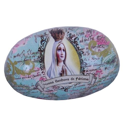 Peso de Papel Nossa Senhora de Fátima em Vidro - 9x6 cm
