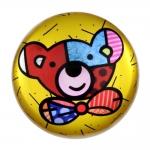 Peso de Papel Redondo Urso - Romero Britto - em Vidro - 8x4 cm