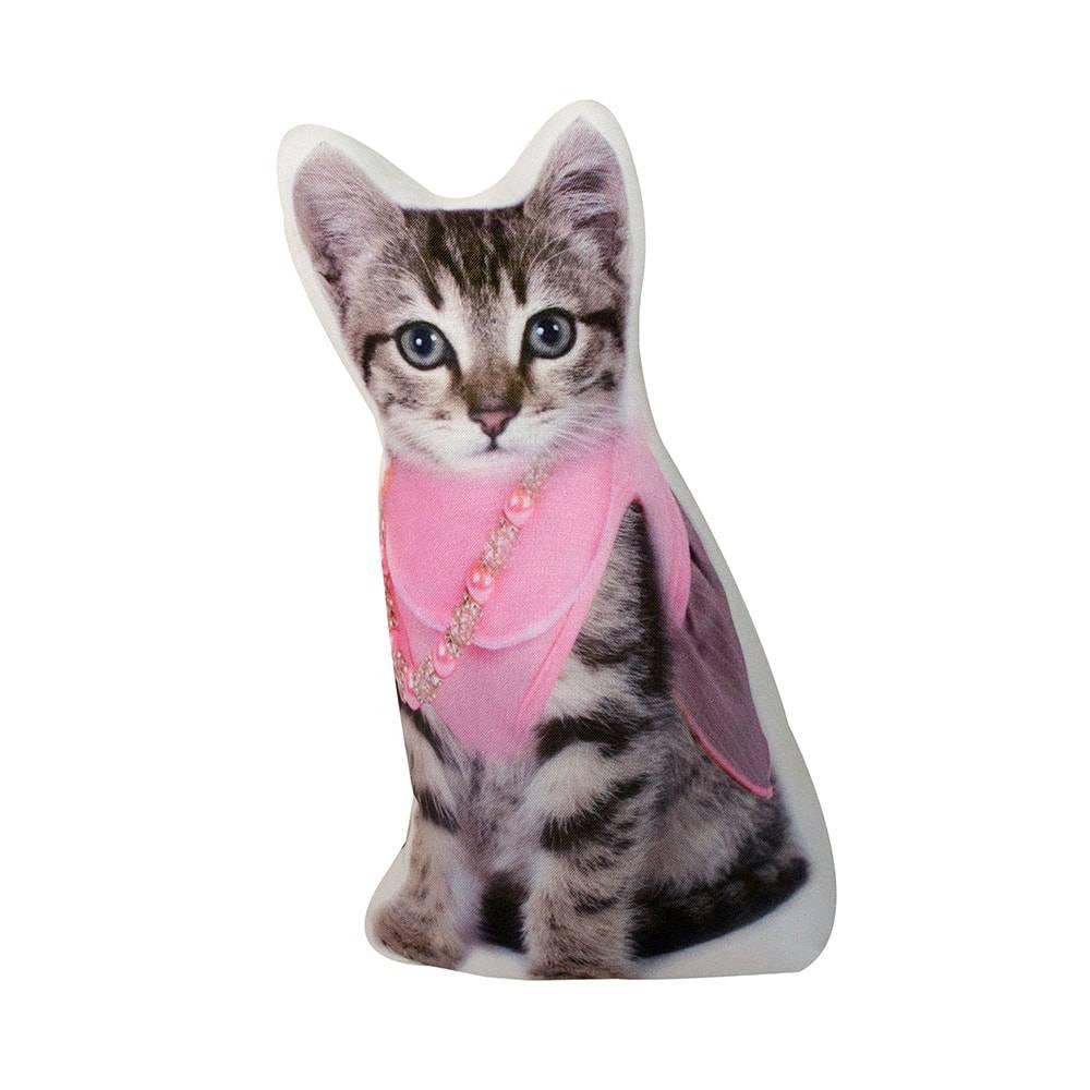 Peso para Portas Gato de Lenço Rosa Fullway - 33x20 cm