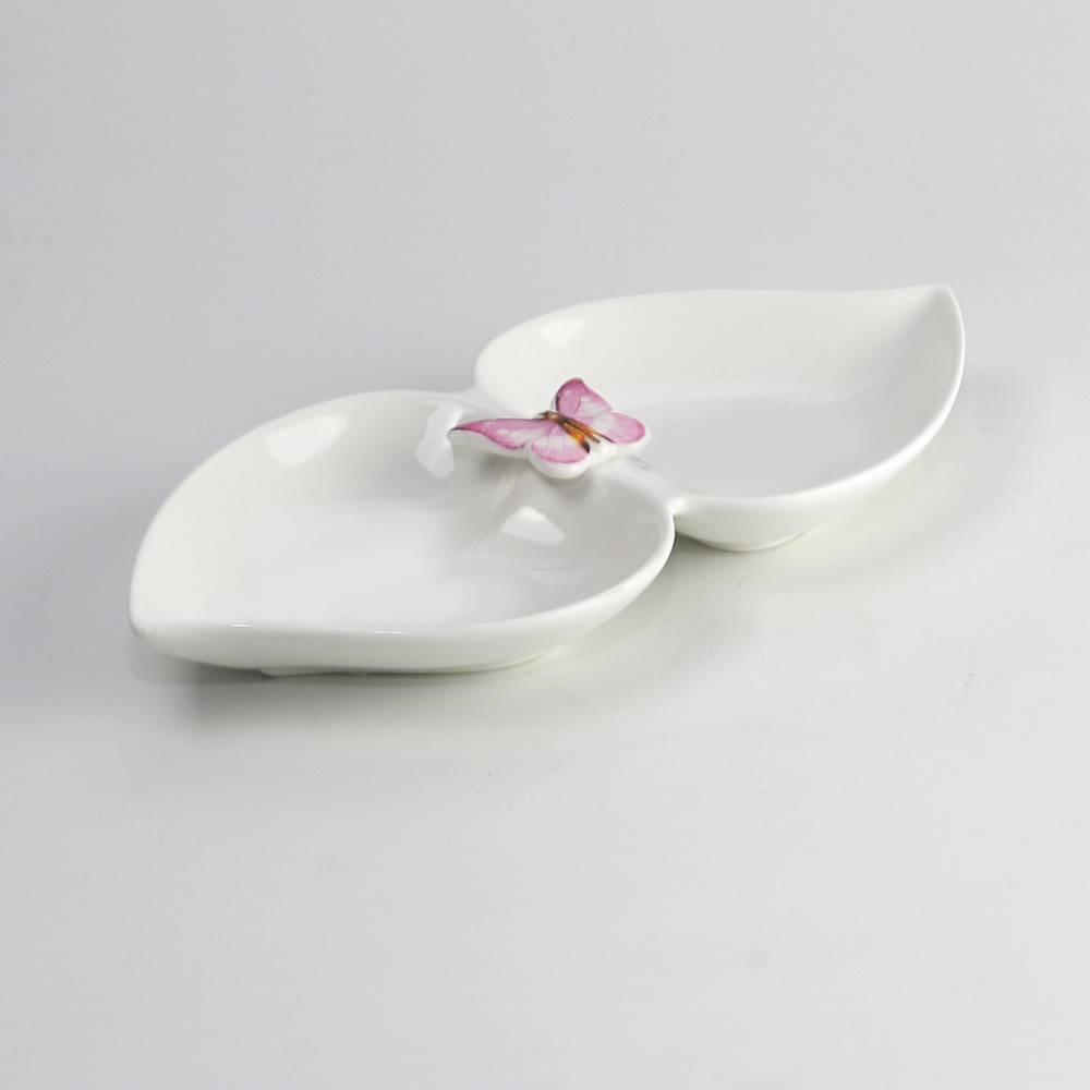 Petisqueira Borboleta Branca - Wolff - 21,5 cm