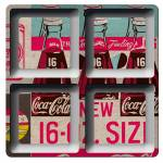Petisqueira Quadrada Coca-Cola Three Bottles Azul em Melamina - Urban - 21,5x21,5 cm