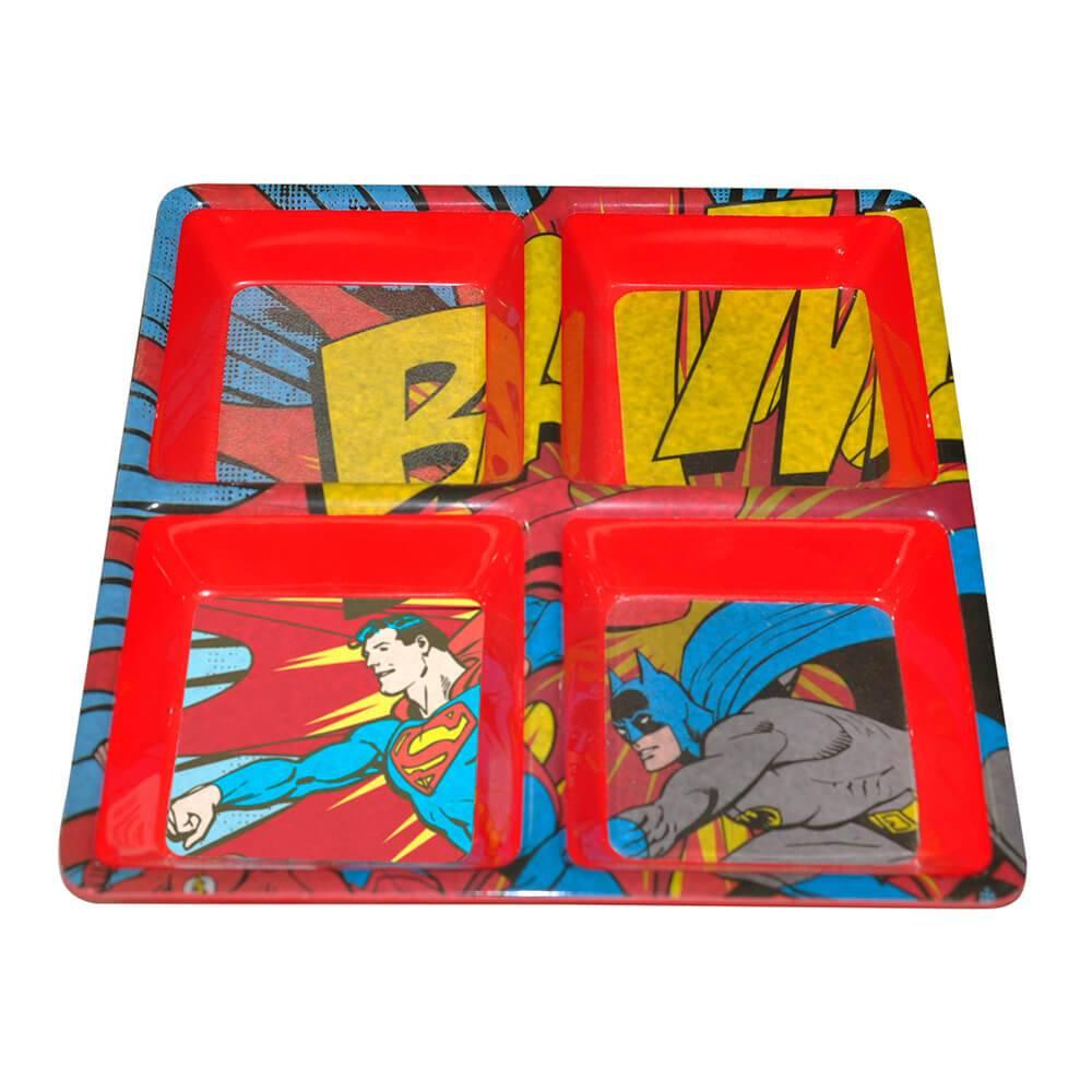 Petisqueira Quadrada DC Comics Batman e Robin Bam em Melamina - Urban - 27x27 cm