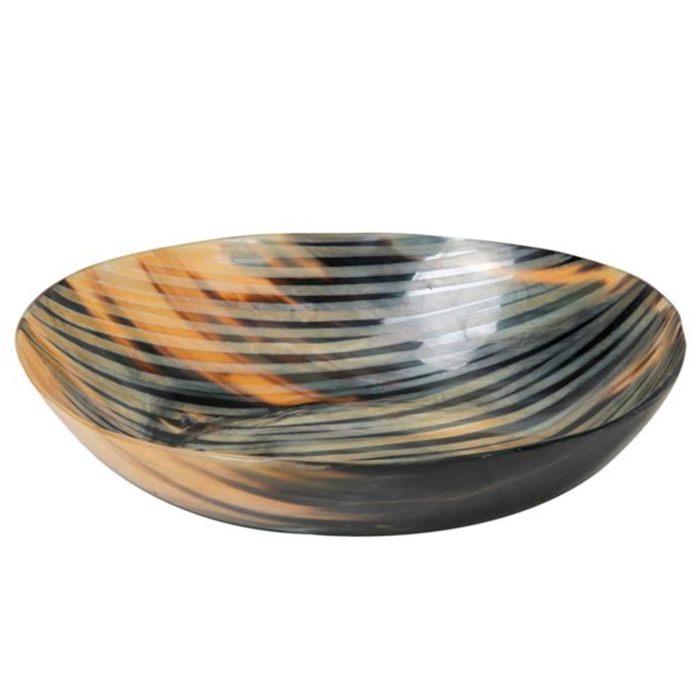 Petisqueira Reale Tons de Cinza em Chifre - 30x7 cm