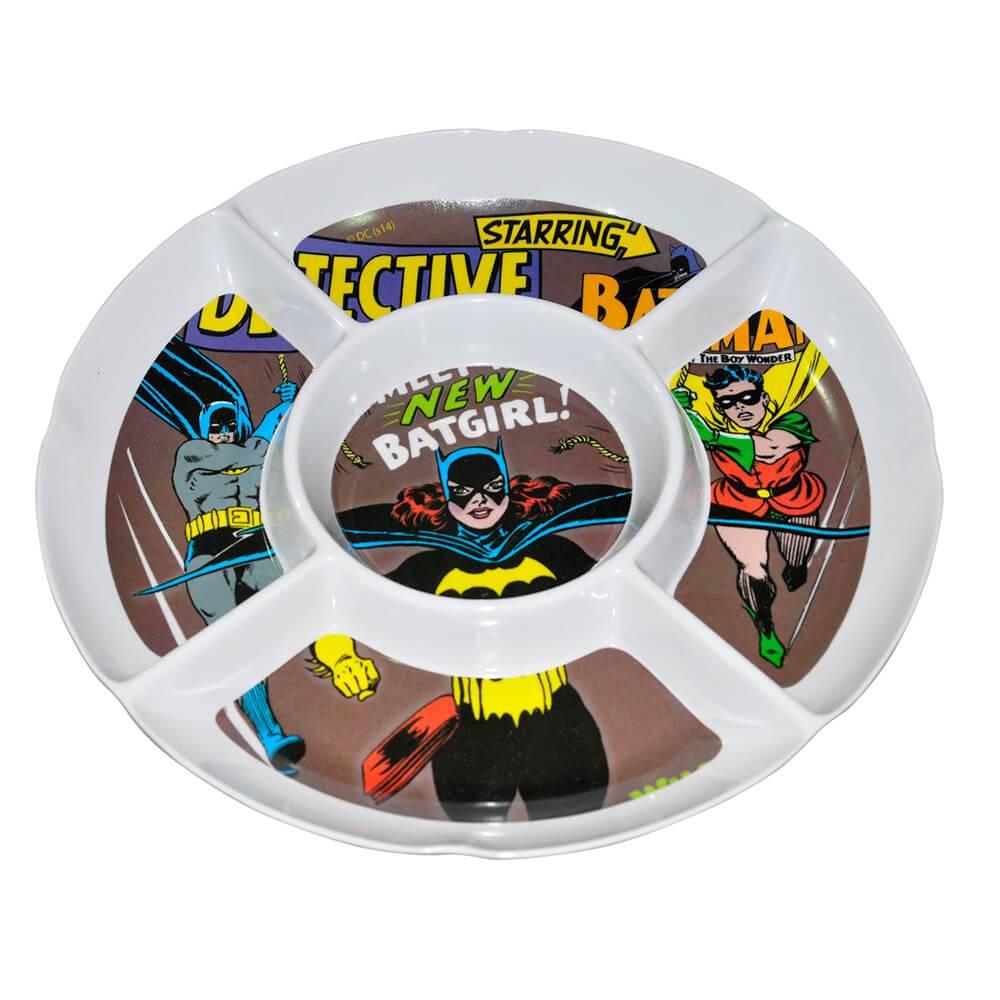 Petisqueira Redonda DC Comics Batgirl Marrom em Melamina - Urban - 27x27 cm