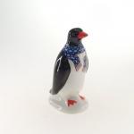 Pinguim cachecol azul