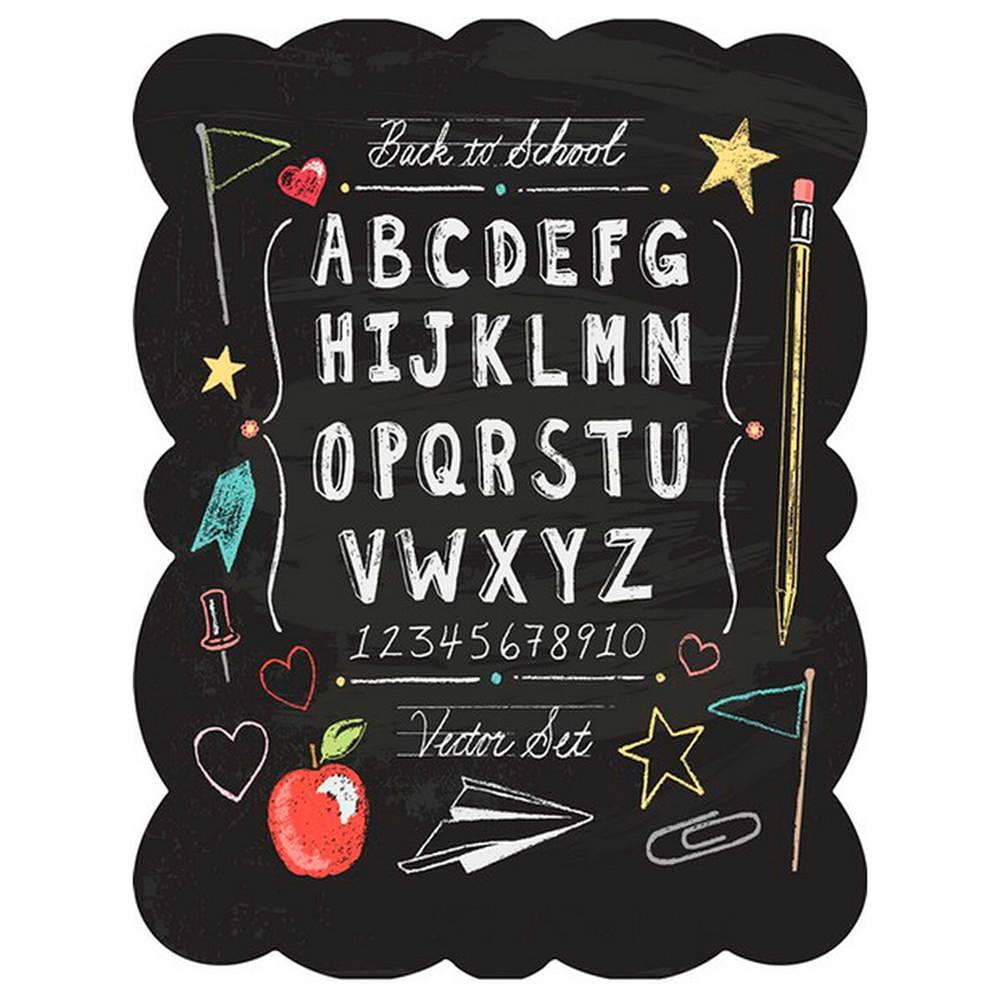 Placa ABC Letters Preto em Metal - Urban - 33x25 cm