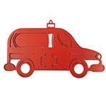 Placa Ambulância Vermelha - Tema Infantil -  MDF Vazado - 40x20 cm