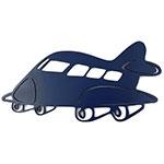 Placa Avião Azul  - Tema Infantil