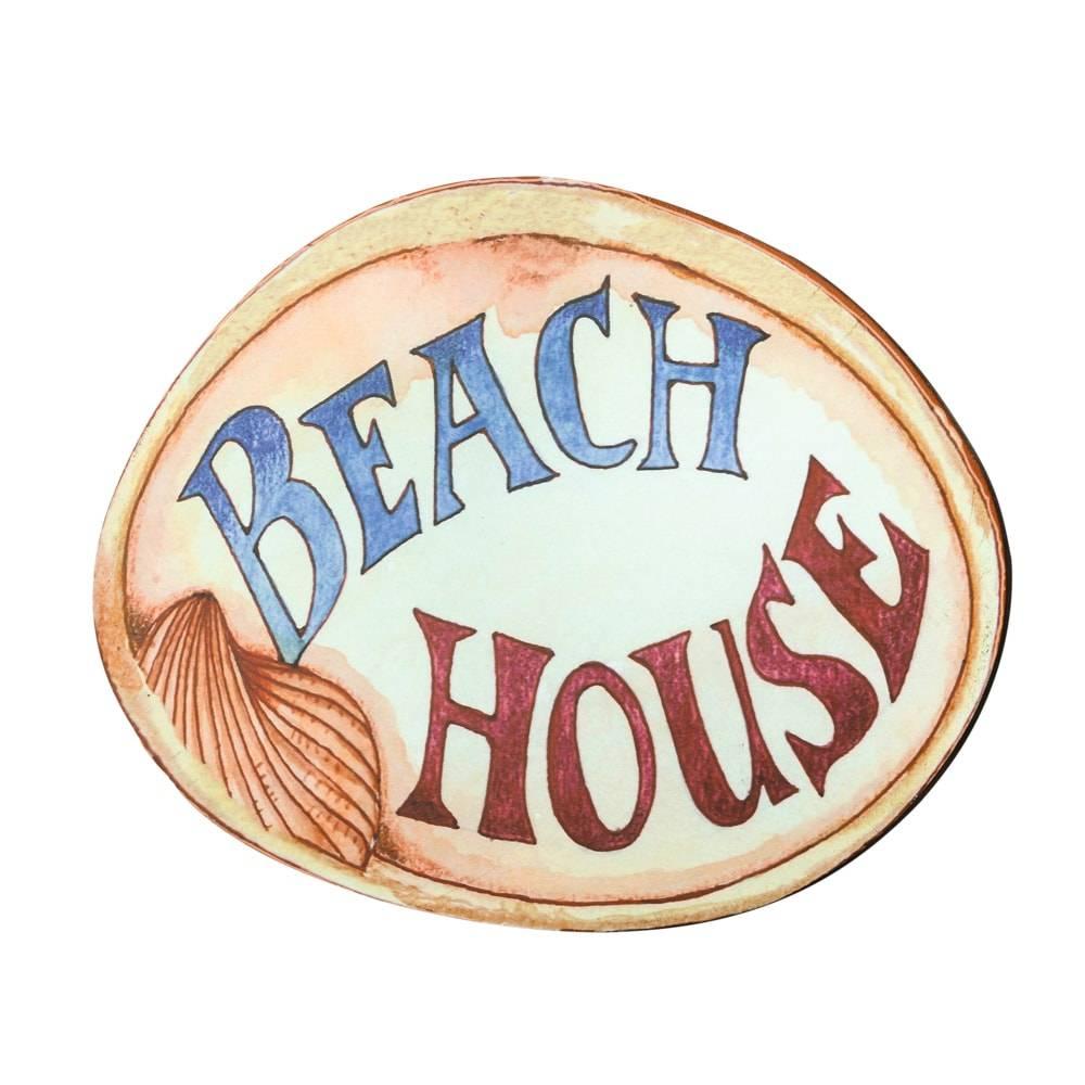Placa Beach House em MDF - Lyor Classic - 35x27 cm
