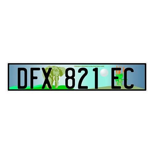 Placa de Carro Decorativa - Em Alto Relevo - África do Sul - África - 53x12 cm