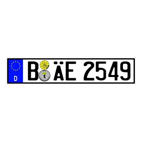 Placa de Carro Decorativa - Em Alto Relevo - Alemanha - Europa - 53x12 cm