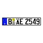 Placa de Carro Decorativa - Alto Relevo - Alemanha - Europa