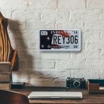 Placa de Carro Decorativa - Alto Relevo - Estado de Indiana