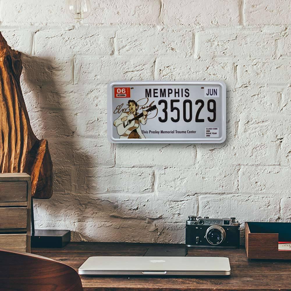Placa de Carro Decorativa - Em Alto Relevo - Memphis - Tennessee - 31x16 cm