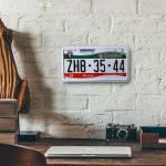 Placa de Carro Decorativa - Alto Relevo - México - 31x16 cm
