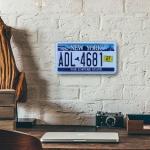 Placa de Carro Decorativa - Em Alto Relevo - New York - EUA