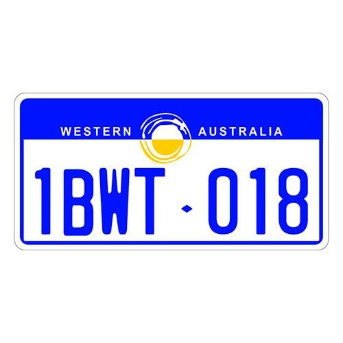Placa de Carro Decorativa - Em Alto Relevo - Austrália - Oceania - 31x16 cm