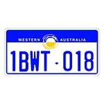 Placa de Carro Decorativa - Alto Relevo - Austrália Oceania