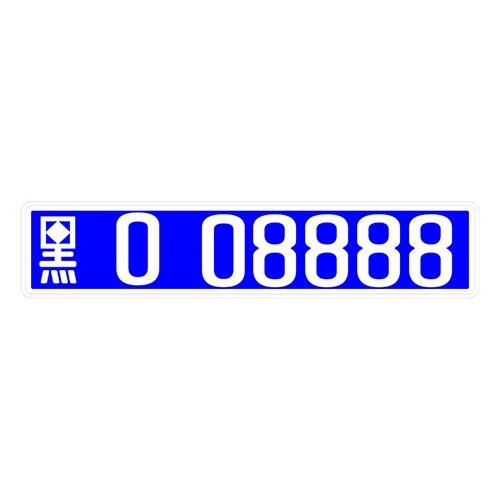 Placa de Carro Decorativa - Em Alto Relevo - China - Ásia - 53x12 cm