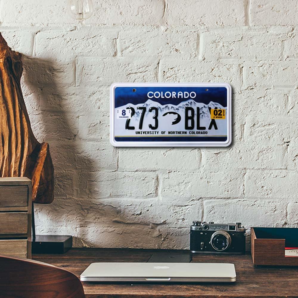 Placa de Carro Decorativa - Em Alto Relevo - Colorado - Estados Unidos - 31x16 cm
