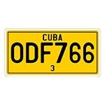 Placa de Carro Decorativa Alto Relevo - Cuba América do Sul