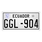 Placa de Carro Decorativa - Em Alto Relevo - Equador
