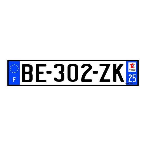 Placa de Carro Decorativa - Em Alto Relevo - França - Europa - 53x12 cm
