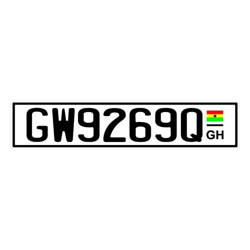 Placa de Carro Decorativa - Em Alto Relevo - Gana - África - 53x12 cm