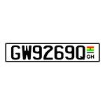 Placa de Carro Decorativa - Em Alto Relevo - Gana - África