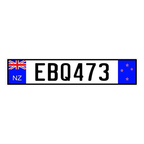 Placa de Carro Decorativa - Em Alto Relevo - Nova Zelândia - Oceania - 53x12 cm