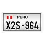 Placa de Carro Decorativa -Alto Relevo - Peru América do Sul