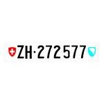 Placa de Carro Decorativa - Em Alto Relevo - Suíça - Europa