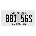 Placa de Carro Decorativa - Em Alto Relevo - Venezuela