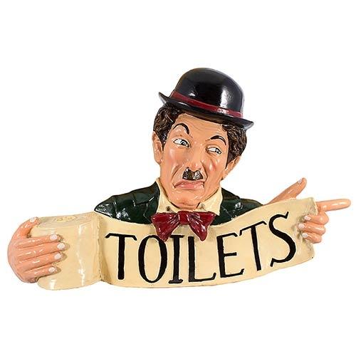 Placa Chaplin Resina Toilets Oldway - 45x70 cm
