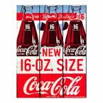 Placa Coca-Cola Six Bottle Vermelho em Madeira - Urban - 50x36,6 cm