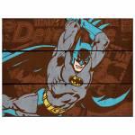 Placa DC Comics Batman Attacking Position em Madeira - Urban