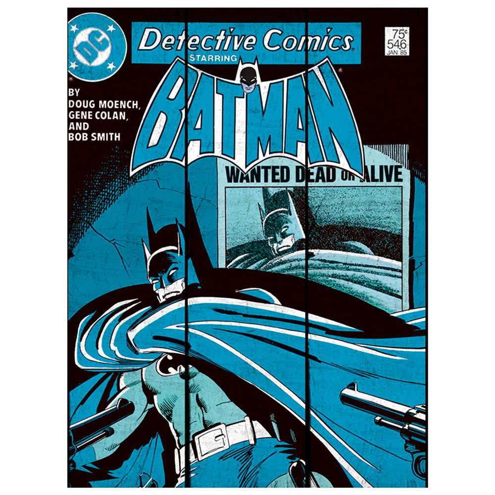 Placa DC Comics Batman Shadow Azul em Madeira - Urban - 50x36,6 cm