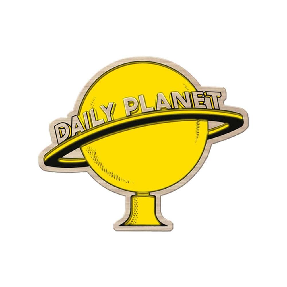 Placa DC Comics Daily Planet Amarela em Madeira - Urban - 40x30 cm