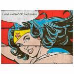 Placa DC Comics Vintage Wonder Woman Vermelho em Madeira - Urban - 50x36,6 cm