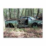 Placa Decorativa Abandoned Car em Metal - 40x30cm