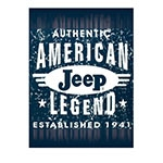 Placa Decorativa American Jeep Legend Grande em Metal - 40x30cm